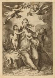 THREE CARDINAL VIRTUES - GOLTZIUS / SAENREDAM