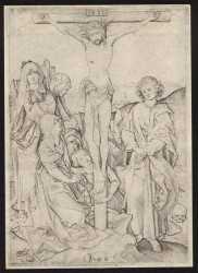 Martin Schongauer - THE CRUCIFIXION