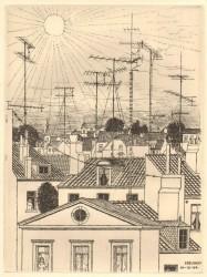 Delvaux - Les Toits - 1964