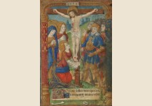 CHRIST ON THE CROSS - Miniature 1495
