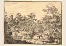 VAN BEMMEL - LANDSCAPE IN A FOREST