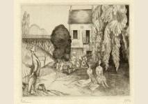 Jean-Emile Laboureur - Garden with Fishermen