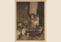 Brangwyn - A Café, Furnes - 1908