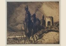 Frank Brangwyn - A Gate, Assisi