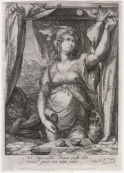 JAEL AND SISERA - GOLTZIUS / SAENREDAM