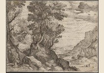 Paul Bril - Landscape with S.Francis